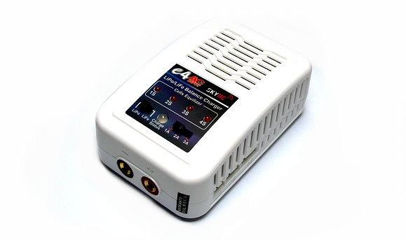 SKYRC Model e4AC 3A 20W LiPo / LiFe 2-4S White Balance Charger (UK Plug) BC028