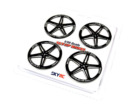 SKYRC RC Model 1/10 Scale Set Up R/C Hobby Wheel (Black) AC586