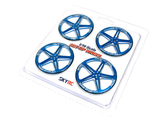 SKYRC RC Model 1/10 Scale Set Up R/C Hobby Wheel (Blue) AC585