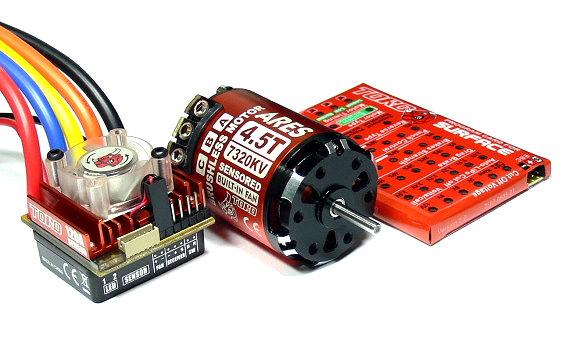 SKYRC TORO 7320KV 4.5T ARES Sensored Brushless Motor & RC 120A ESC Combo ME750