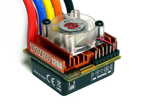 Skyrc toro c120 rc sensorless brushless motor 120a esc for Sensorless brushless motor controller