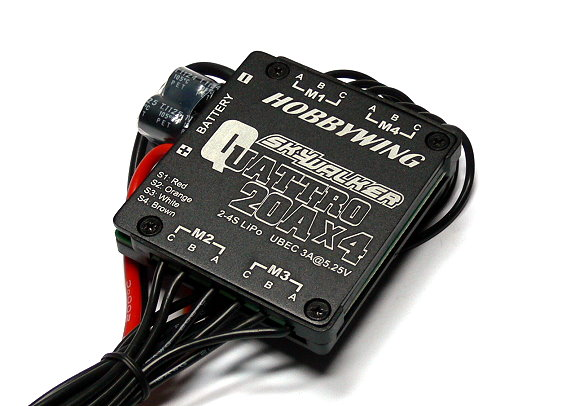 HOBBYWING SKYWALKER QUATTRO RC Model 20A x4 Brushless Speed Controller ESC SL011