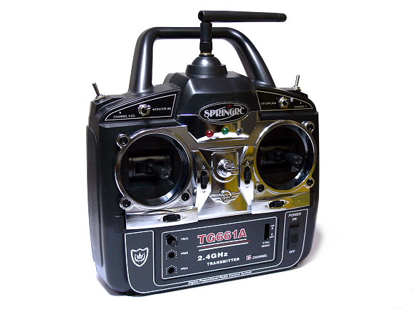 SPRINGRC RC Model G61A 2.4GHz 6ch R/C Hobby Transmitter & Receiver (Mode2) TS876