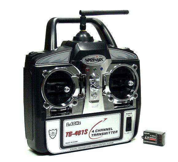 SPRINGRC RC Model G41S 2.4GHz 4ch R/C Hobby Transmitter & Receiver (Mode1) TS885