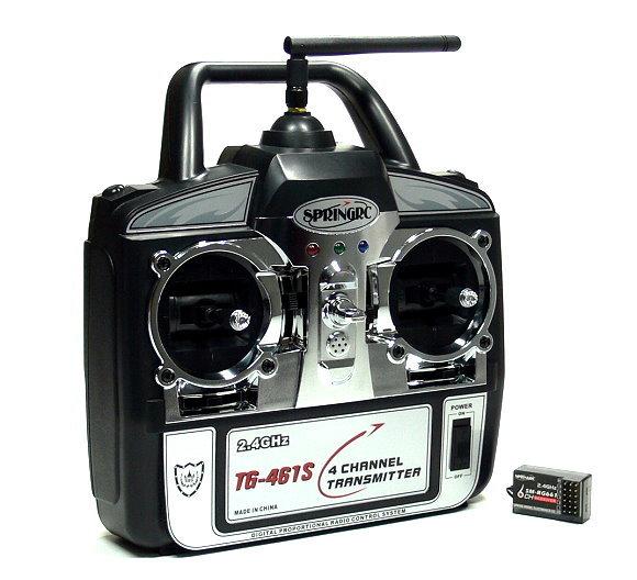 SPRINGRC RC Model G41S 2.4GHz 4ch R/C Hobby Transmitter & Receiver (Mode2) TS882