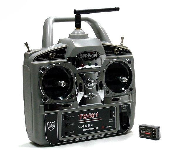 SPRINGRC RC Model G61 2.4GHz 6ch R/C Hobby Transmitter & Receiver (Mode2) TS878