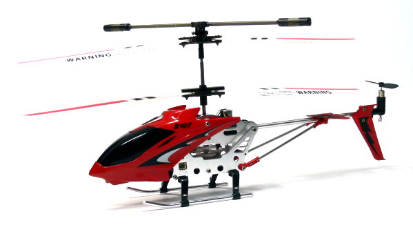SYMA RC 3ch Red Gyro LED Mini Helicopter RTF EH470