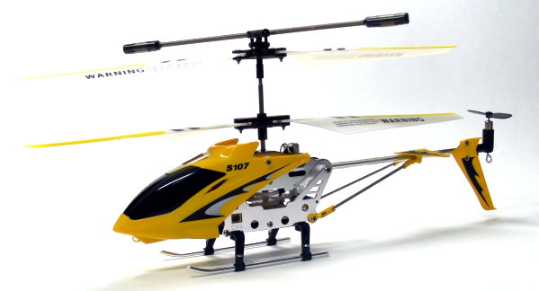 SYMA RC Model 3ch Yellow Gyro LED R/C Hobby Mini Helicopter RTF EH465