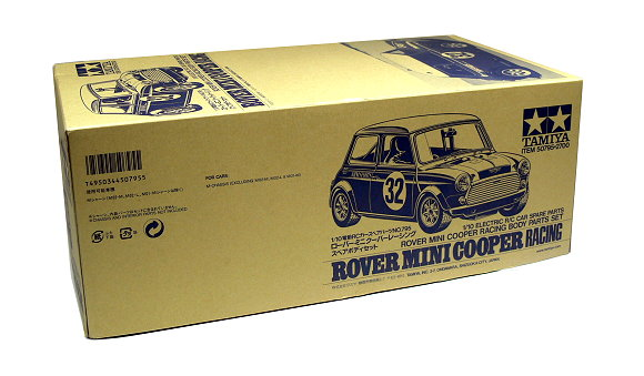 Tamiya EP RC Car Body 1/10 Rover Mini Cooper Racing Body Parts Set 50795