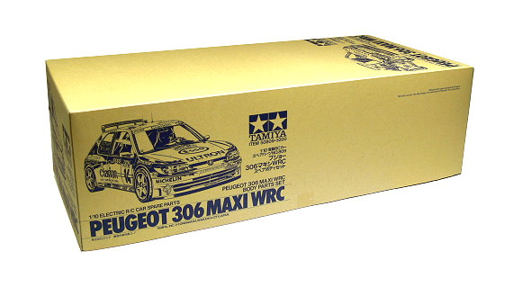 Tamiya EP RC Car Body 1/10 PEUGEOT 306 MAXI WRC Body Parts Set 50809