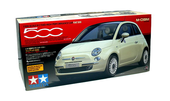 Tamiya EP RC Car 1/10 FIAT 500 High Performance Car M03M with ESC 58427