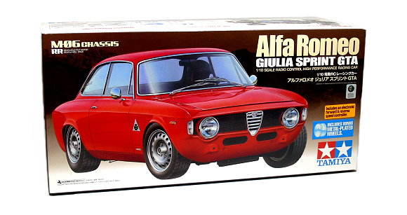 Tamiya EP RC Car 1/10 Alfa Romeo GIULIA SPRINT GTA Racing Car M06 with ESC 58486