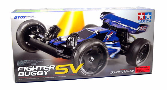 Tamiya EP RC Car 1/10 FIGHTER BUGGY SV DT02 Classis with Motor & ESC 58553