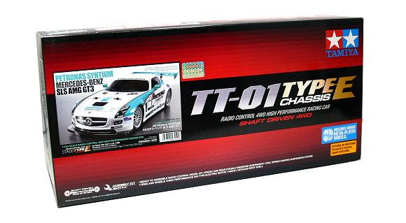 Tamiya EP RC Car 1/10 PETRONAS SYNTIUM MERCEDES-BENZ SLS GT3 TT01E & ESC 58554
