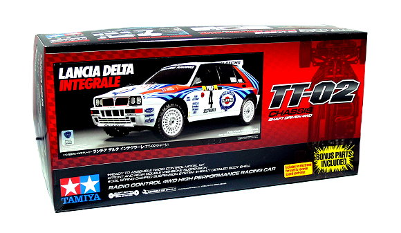 Tamiya EP RC Car 1/10 LANCIA DELTA INTEGRALE TT02 with ESC 58570