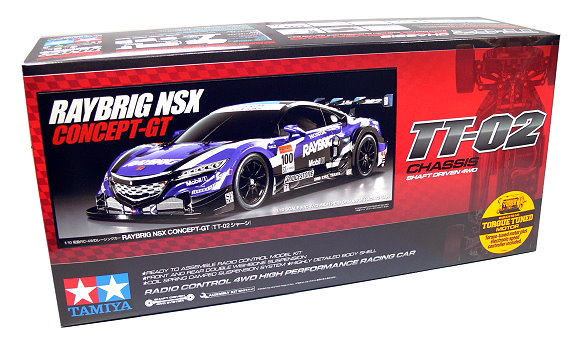 Tamiya EP RC Car 1/10 RAYBRIG NSX CONCEPT-GT TT02 Shaft Driven 4WD & ESC 58599