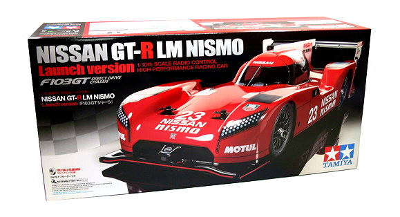 Tamiya EP RC Car 1/10 NISSAN GT-R LM NISMO Launch Verison F103GT Chassis 58617