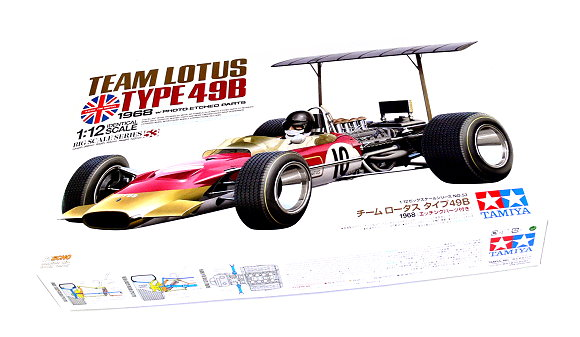 Tamiya Automotive Model 1/12 Car TEAM LOTUS TYPE 49B 1968 & PHOTO-ETCHED 12053