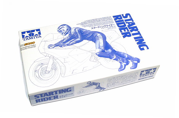 Tamiya Motorcycle Model 1/12 Motorbike Starting Rider No. 124 Scale Hobby 14124
