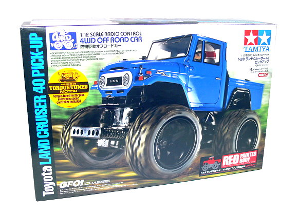 Tamiya EP RC Car 1/12 Toyota LAND CRUSER 40 PICK-UP GF01 4WD (Red) & ESC 47305