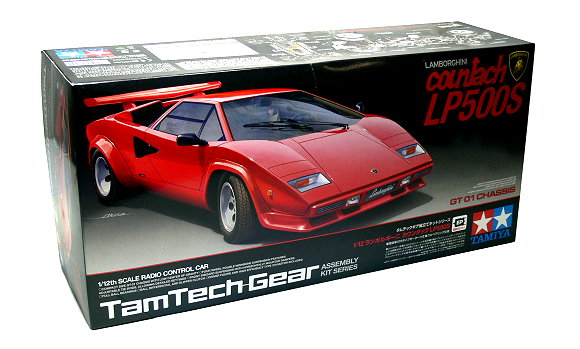Tamiya EP RC Car 1/12 LAMBORGHINI Countach LP500S TamTech Gear GT01 57105