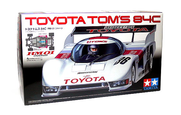 Tamiya EP RC Car 1/12 TOYOTA TOMS 84C RM01 Chassis ON Road Racing Car 58509