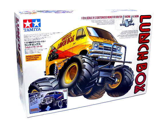 Tamiya EP RC Car 1/12 LUNCH BOX CW01 Chassis Blue Style with ESC 58575