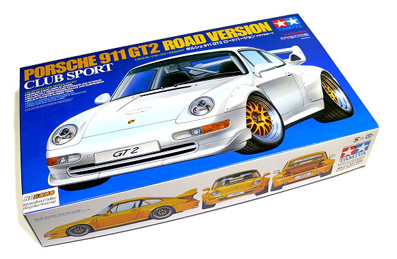 tamiya automotive model 1 24 car porsche 911 gt2 road version club sport 2424. Black Bedroom Furniture Sets. Home Design Ideas