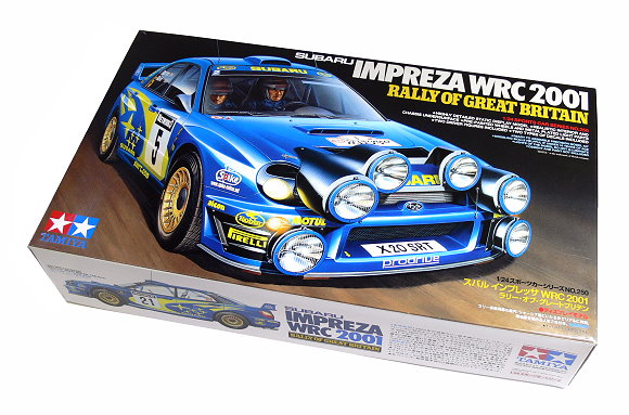 Tamiya Automotive Model 1/24 SUBARU IMPREZA WPC 2001 Rally Great Britain 24250