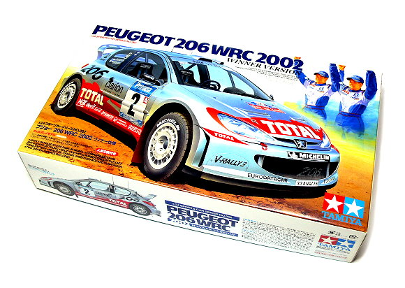 Tamiya Automotive Model 1/24 Car PEUGEOT 206 WRC 2002 Winner Version 24262
