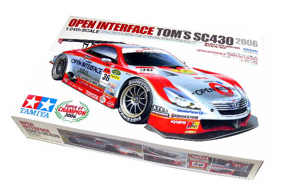 Tamiya Automotive Model 1/24 Car Open Interface Tom SC430 2006 Scale Hobby 24293