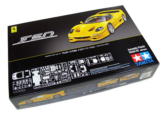 Tamiya Automotive Model 1/24 Car Ferrari F50 Yellow Version Scale Hobby 24297