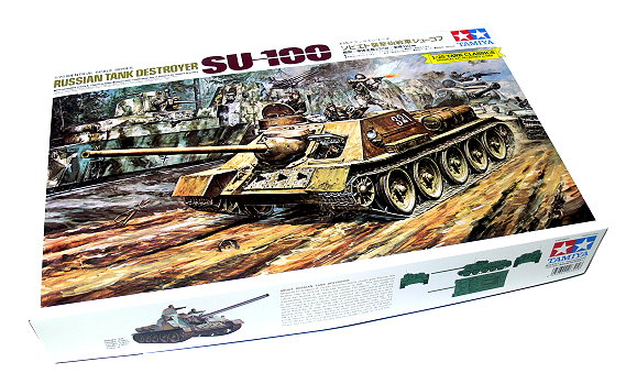 Tamiya Military Model 1/25 RUSSIAN TANK DESTROYER SU-100 Scale Hobby 25104