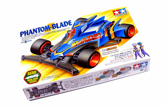 Tamiya Model Mini 4WD Racing Car 1/32 Phantom Blade Super X Chassis 19603 AA018