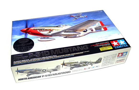 Tamiya Aircraft Model 1/32 Airplane North American P-51D Mustang (Sliver) 25151