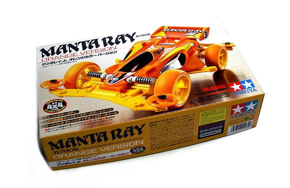 Tamiya Model Mini 4WD Racing Car 1/32 MANTA RAY JUNIOR Orange Verison 92239