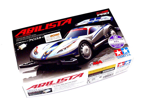 Tamiya Model Mini 4WD Racing Car PRO 1/32 ABILISTA Clear Purple Body (MA