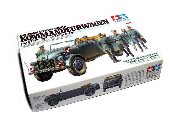 Tamiya Military Model 1/35 GERMAN STEYR 1500A KOMMANDEURWAGEN w/7 Figures 25149