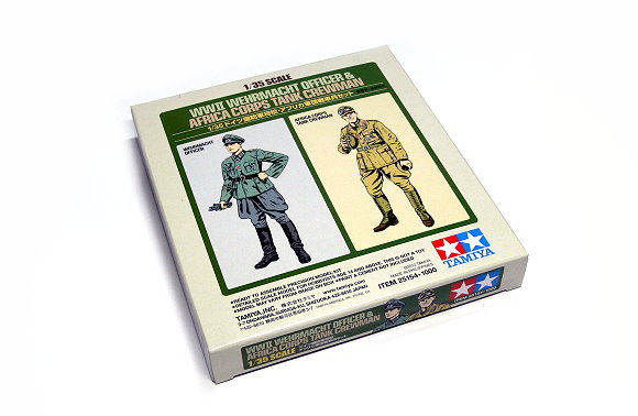 Tamiya Military Model 1/35 WWII WEHRMACHT OFFICER & AFRICA CORPS CREWMAN 25154