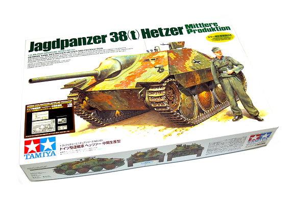 Tamiya Military Model 1/35 Jagdpanzer 38 t Hetzer Mittlere Produktion 25156