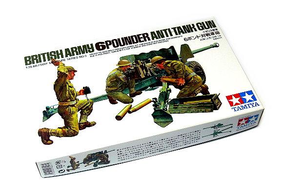 Tamiya Military Model 1/35 British Army 6 Pounder Anti Tank Gun Hobby 35005