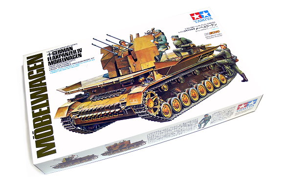 Tamiya Military Model 1/35 Grerman Flakpanzer IV Mobelwagen Scale Hobby 35101