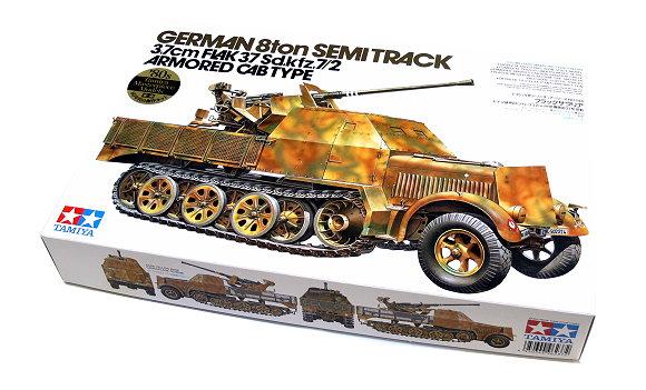 Tamiya Military Model 1/35 German 8ton SEMI Track 3.7cm FL4K 37 Sd.kz.7/2 35144