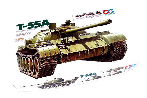 Soviet tank t 55a tamiya 35257 plastic model kit 1 35 scale