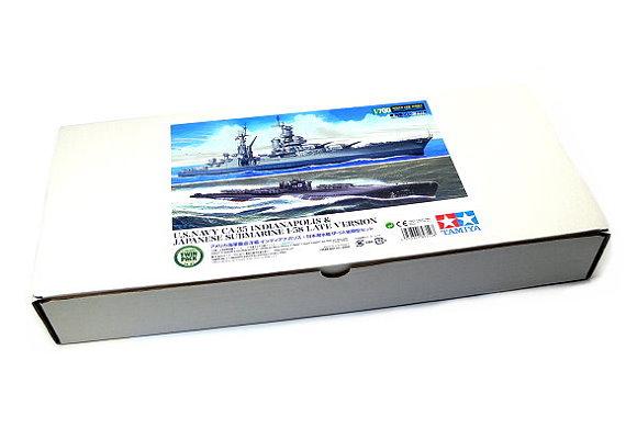 Tamiya Military Model 1/700 War Ship US CA-35 INDIANAPOLIS & JAP I-58 Late 89714