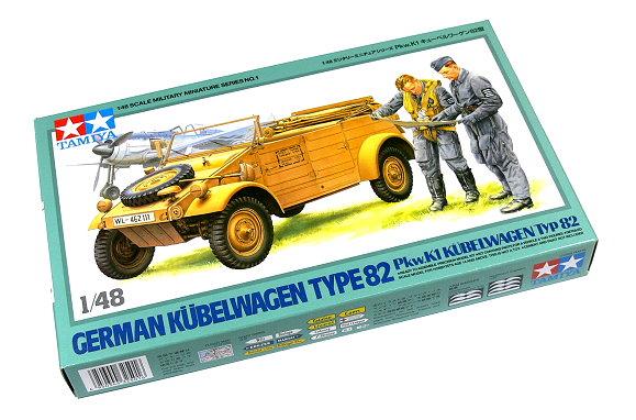 Tamiya Military Model 1/48 German Kubelwagen TYPE 82 Scale Hobby 32501