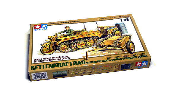 Tamiya Military Model 1/48 KETTENKRAFTRAD with Infantry Cart  Scale Hobby 32502