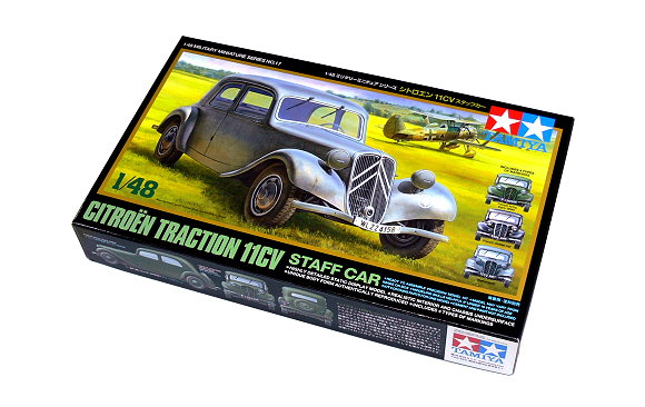 Tamiya Military Model 1/48 Citroen Traction 11CV Staff Car Scale Hobby 32517