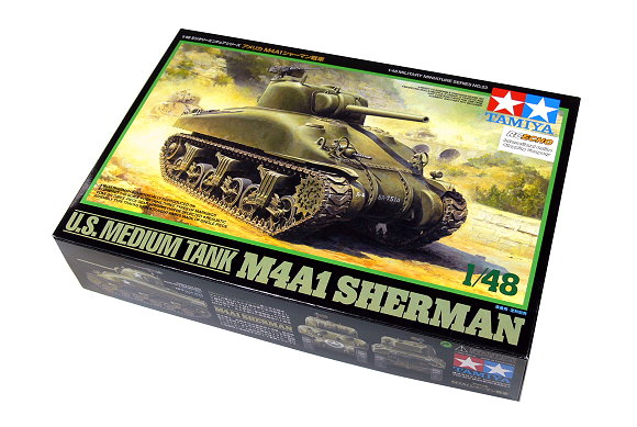 Tamiya Military Model 1/48 U.S. Medium Tank M4A1 SHERMAN Scale Hobby 32523