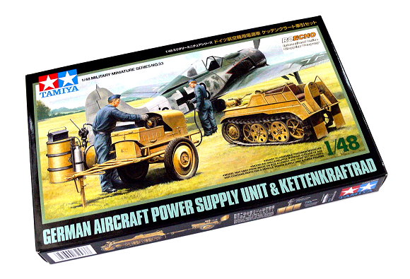 Tamiya Military Model 1/48 Aircraft Power Supply Unit & Kettenkraftrad 32533